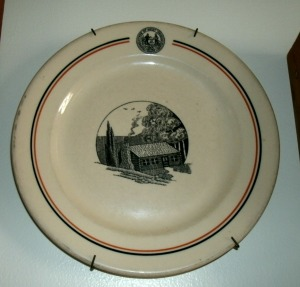 West Virginia State Park stoneware plate, Holly River State Park image