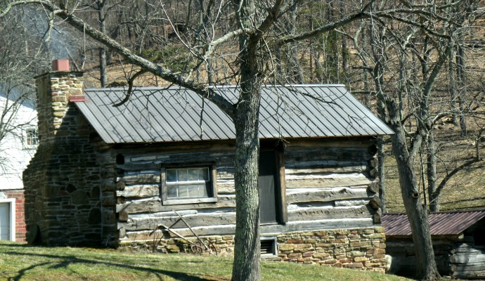 back of cabin at Spiker Farm