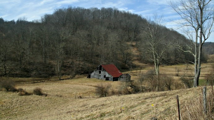 Barn in the Valley at Kenchelo road, Jane Lew< West Virginia