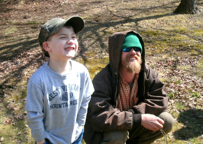 Grahm from the Barnwood builders gives Christopher his personal hat