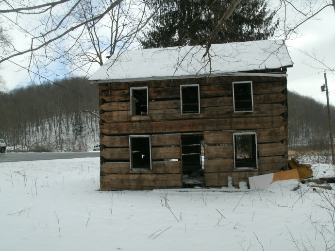 full front view of cabin on rt#4 Rock Cave, West Virginia