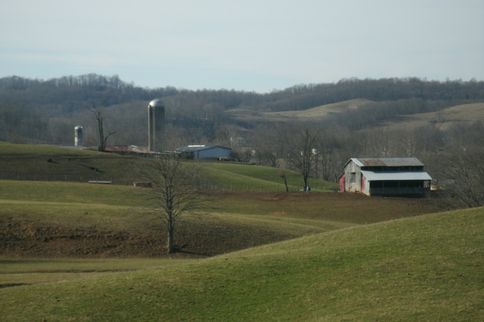 Rolling pasture of Spiker Farm