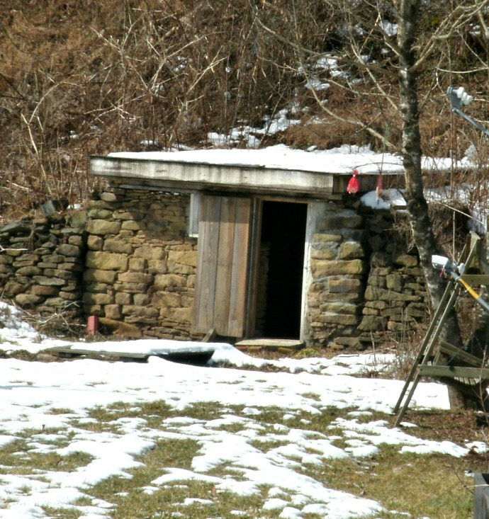 root cellar behind house in Heaters West Virginia