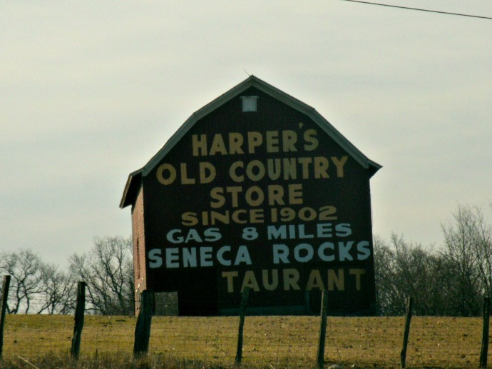 Advertisement on barn on the way to Seneca Rock... and Lunch