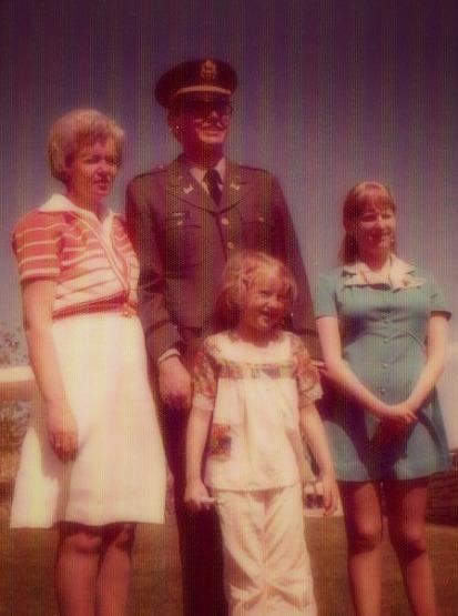 Veda Lowrey, with children Vernon Lowrey, Becky Lowrey Conda, JoLynn Lowrey Powers, 1976