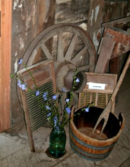 Wagon wheel at the Home Stead House at Seneca Rocks State Park WV