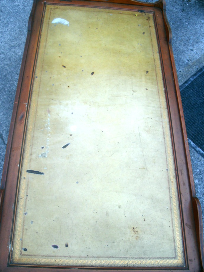 Damaged top of coffee table