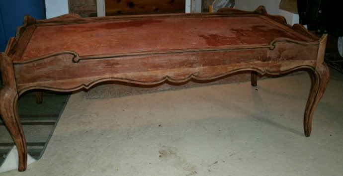 back view of stripped table