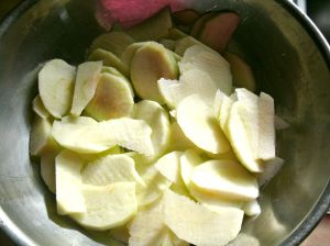 granny smith apples sliced