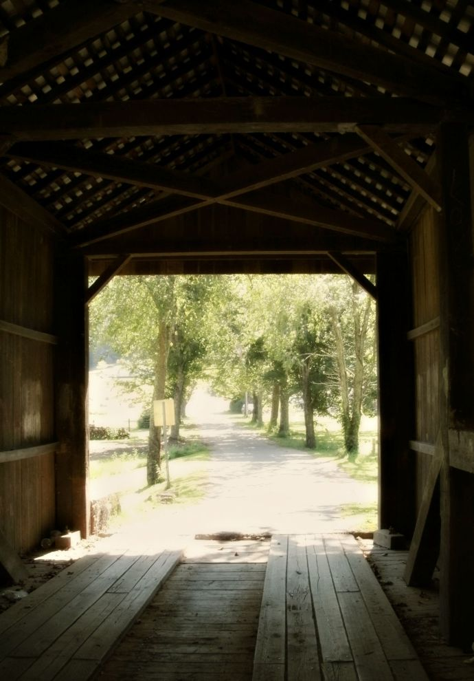 Inside View of the Walkersville Covered Bridge