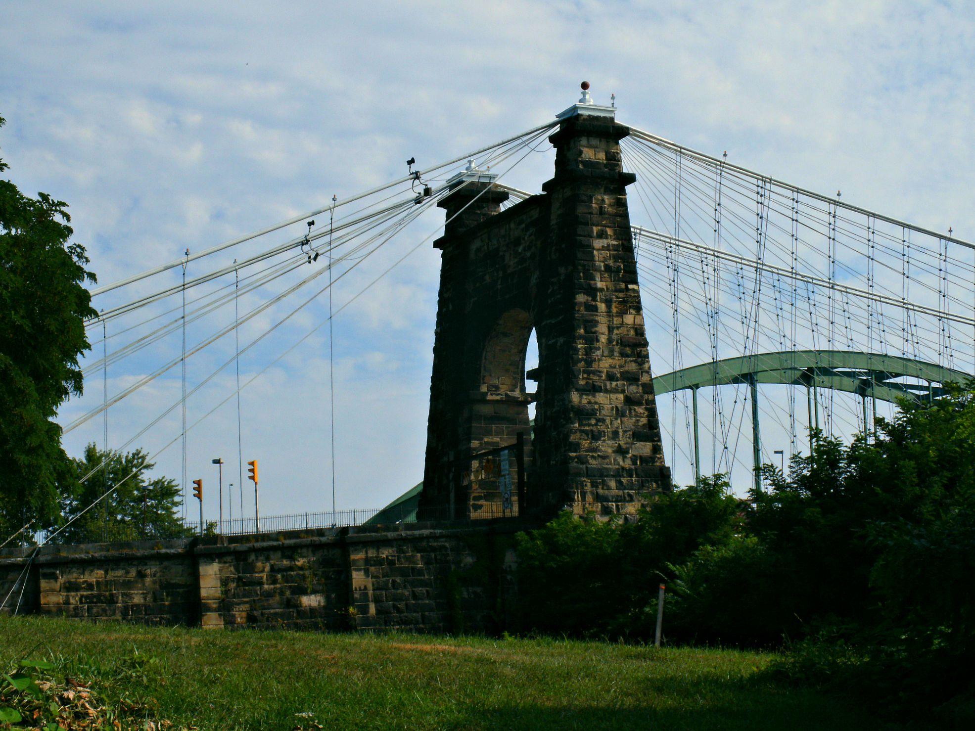 Stone Pier Of The Wheeling Island Bridge Island Side