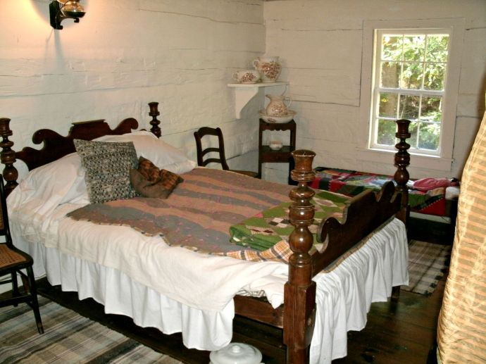 Bed Room of Henry (light horse Harry)Lee cabin at Lost River State Park