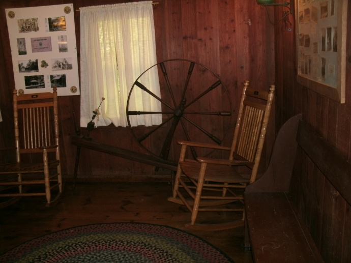 Living area of Henry Lee cabin at Lost River State Park