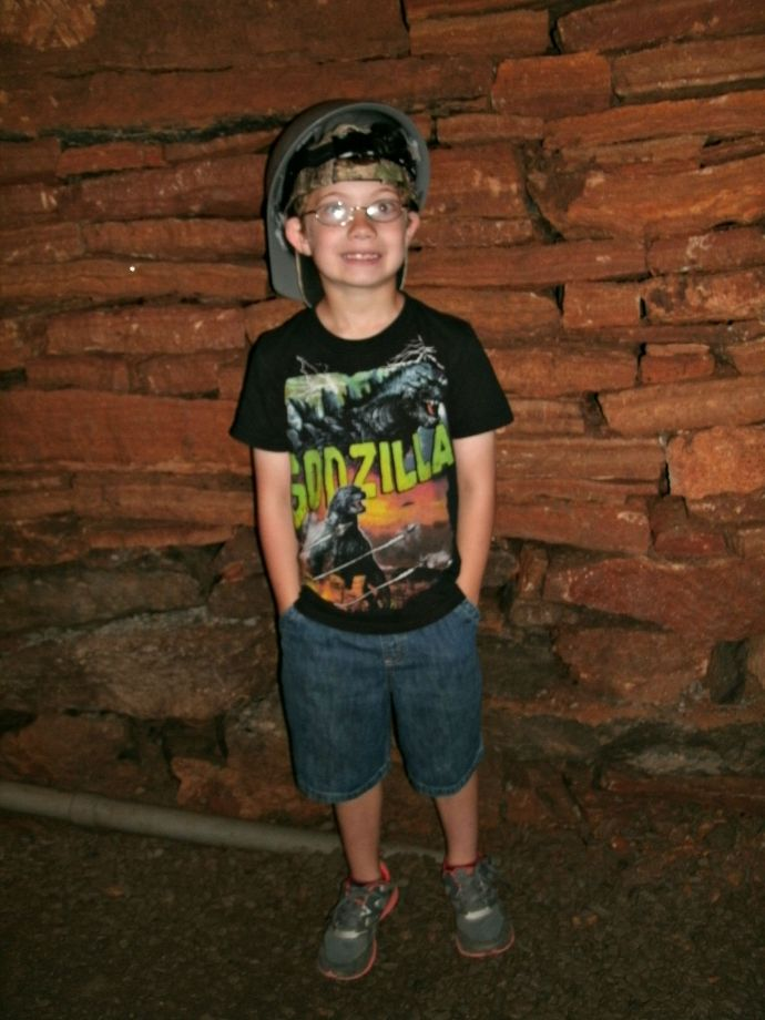 Christopher Powers 165 feet underground at Seneca Caverns, WV