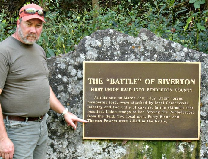 Thomas Powers at the Battle of Riverton memorial for Thomas Powers