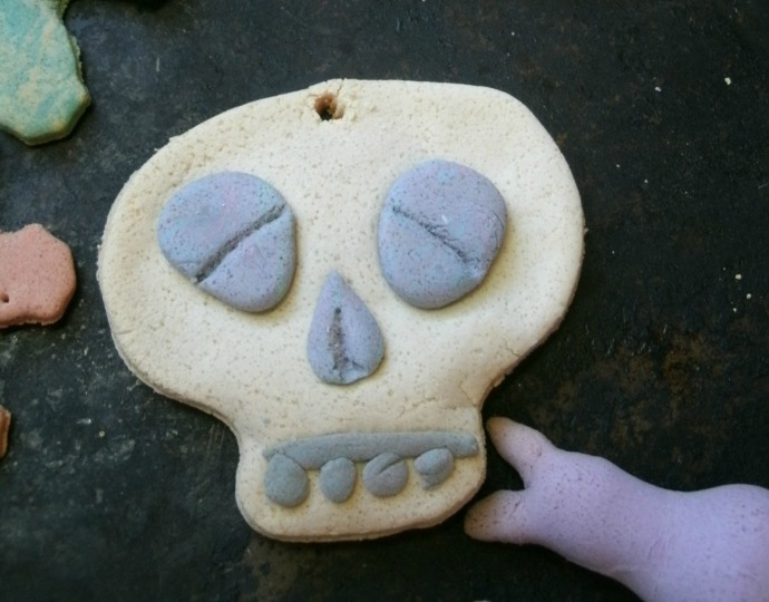 Salt dough skull