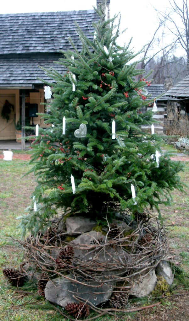 Christmas tree at Fort New Salem, Salem West Virginia