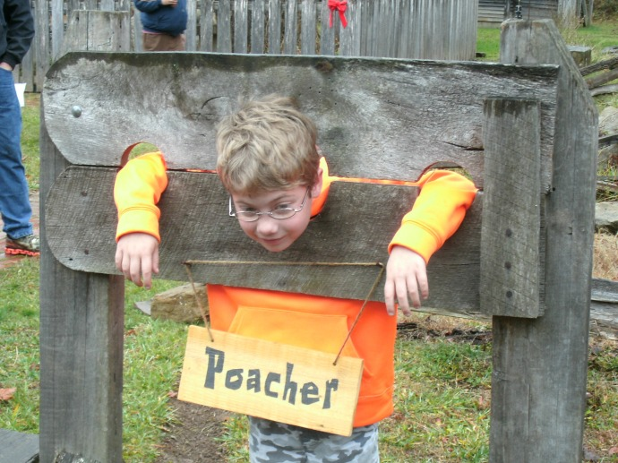 Christopher In the Stocks at Fort new Salem, Salem West Virginia 2015