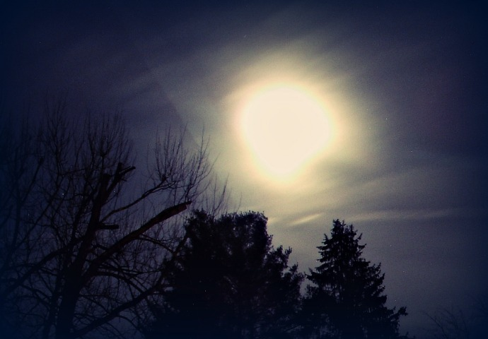 Cold Full Moon Christmas Eve 2015