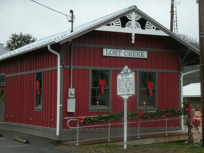 Lost Creek, WV, Depot Christmas 2015 restoration is complete