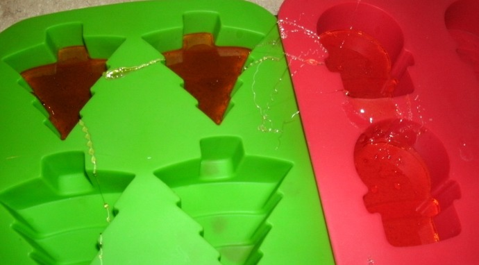 silicon baking molds used to make hard candy