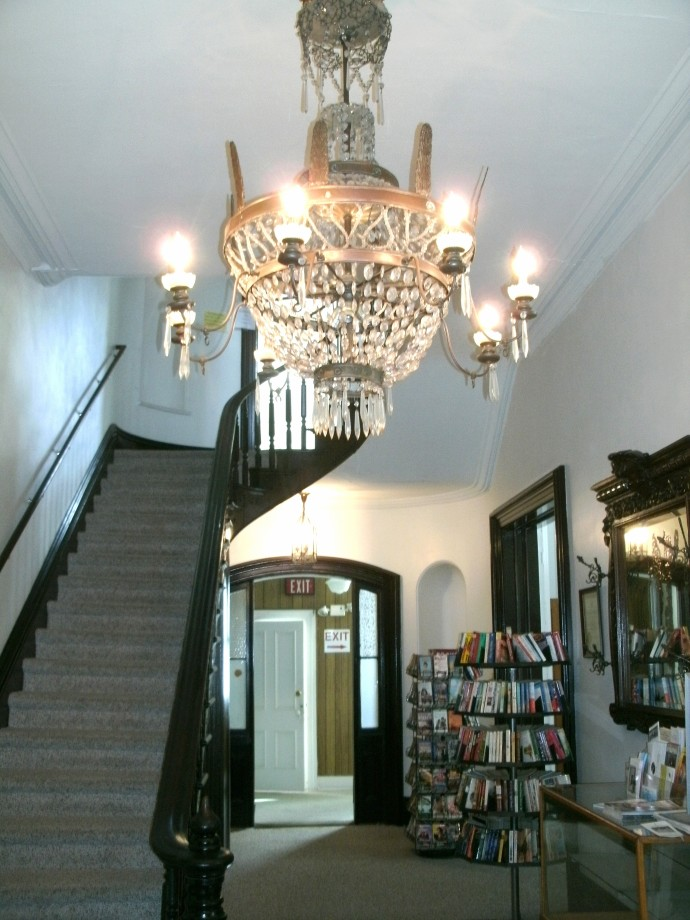 Main staircase and entry of the Louis Bennett Memorial Library