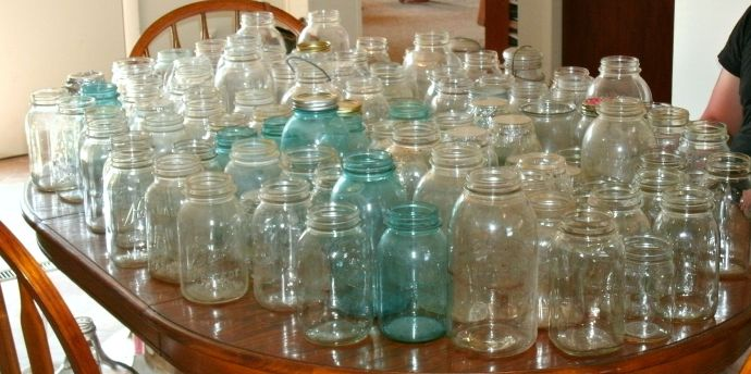 empty canning jars