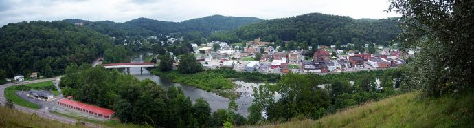 panorama of Downtown Philippi West Virginia... Wikipedia