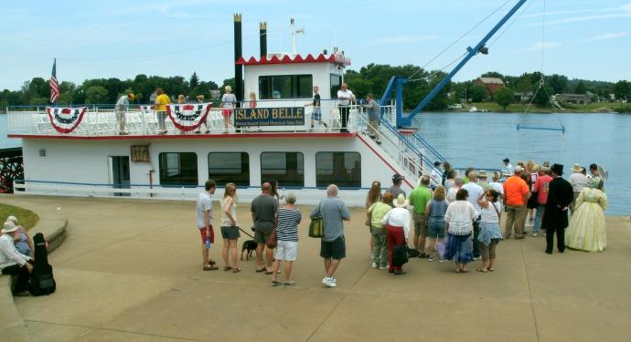 Island Bell ferry to Blennerhassett Island