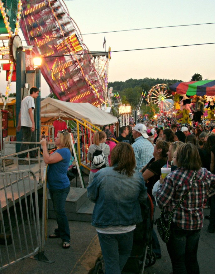 Sea of people at the Strawberry Festival Carnival 32016