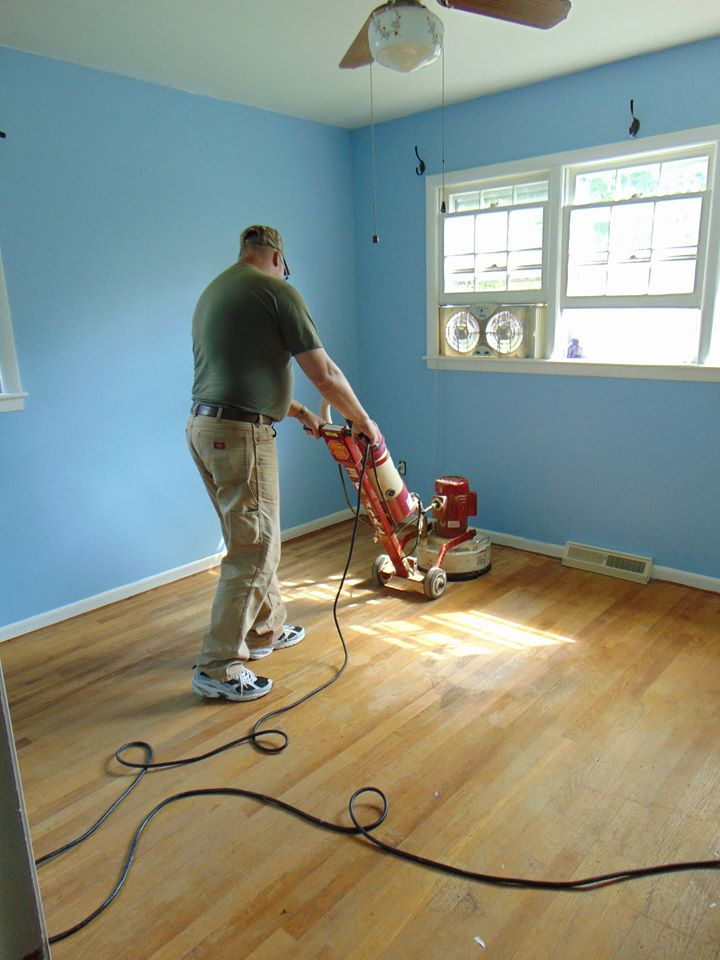 tom sanding christophers floors