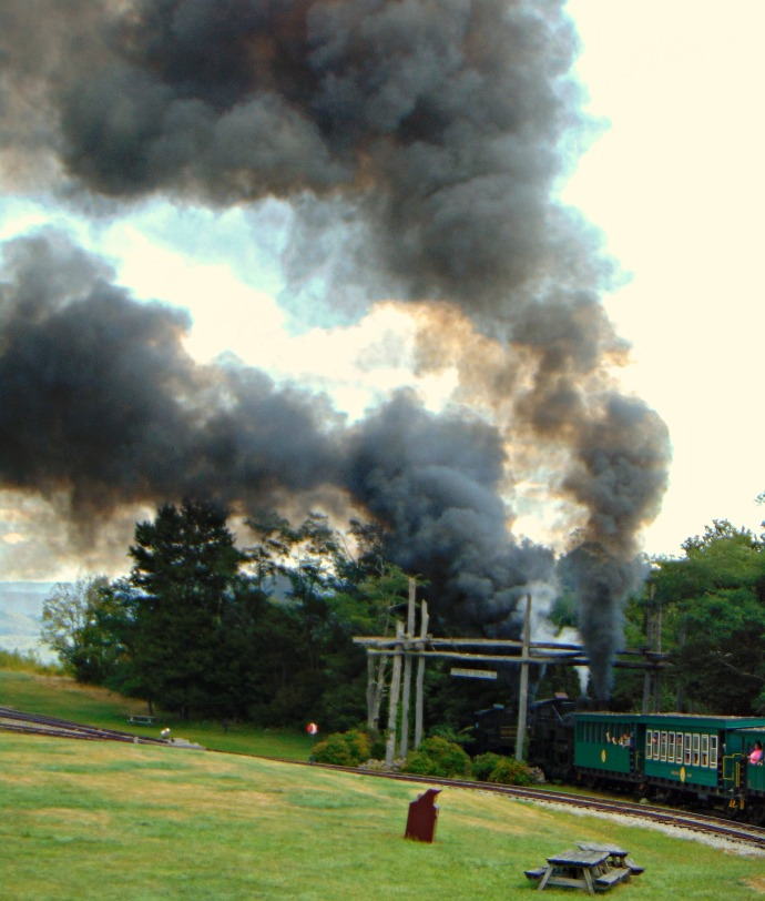smoke-from-two-shay-engines-at-whittaker-station-westvirginia