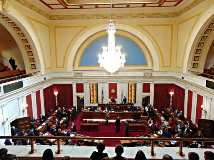 Children watching the House of Delegates at work spring 2017