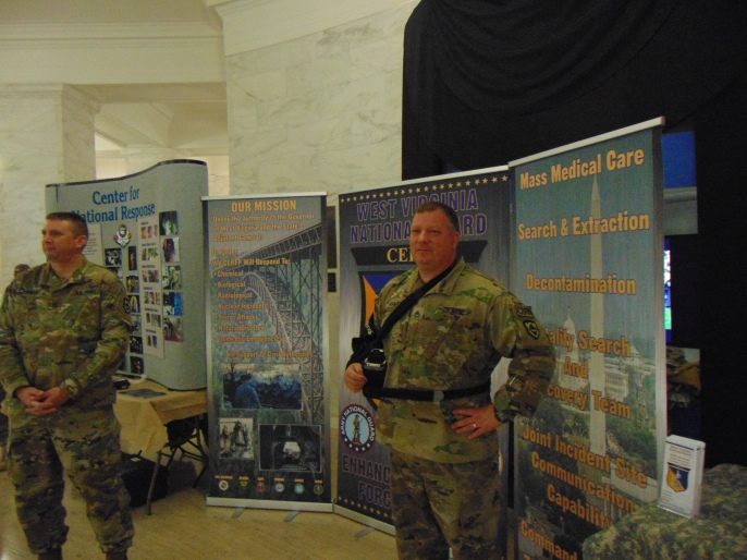 National Guard soldiers display at the Capitol