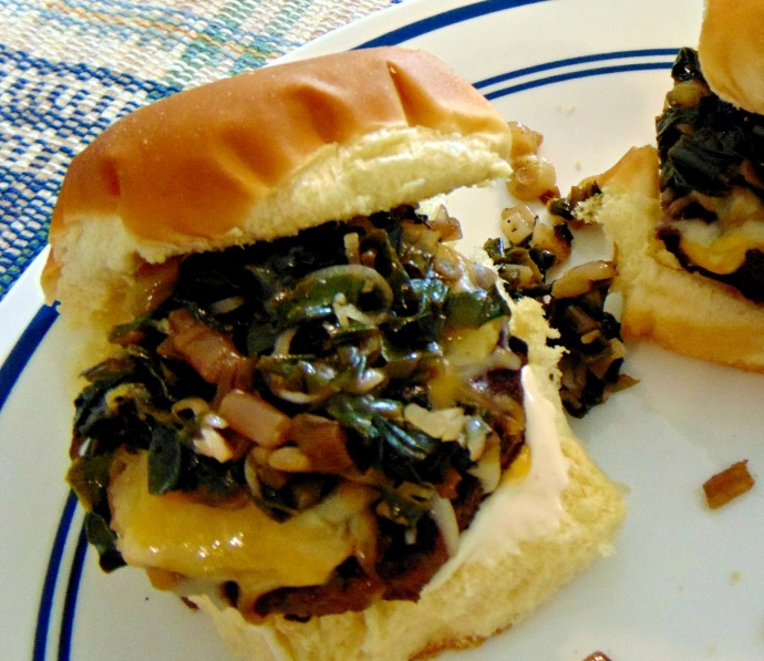 Ramp and Cheese Sliders spring wild food