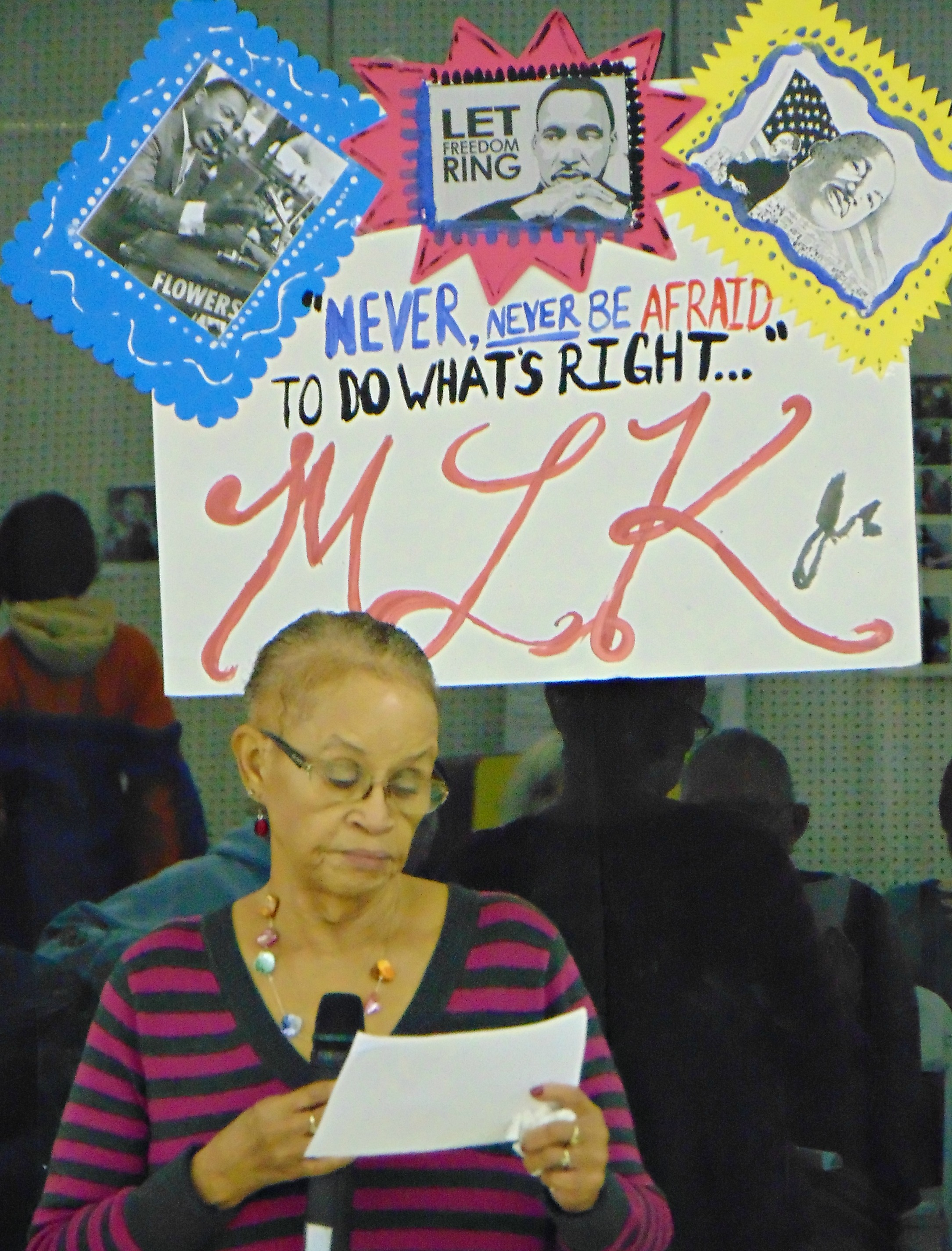 Mrs Chisum at the MLK event. 2016