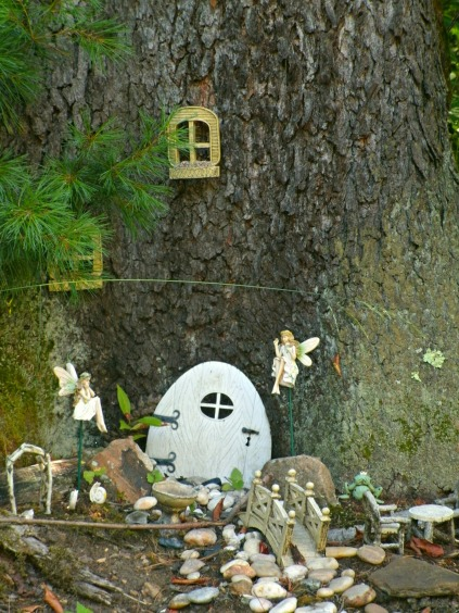 Fairy Garden under Black Cherry Tree