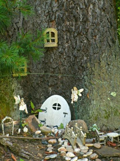 Fairy Garden under Black Cherry Tree