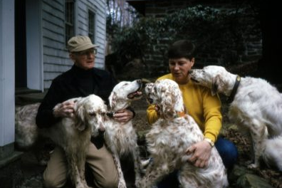 George with dogs