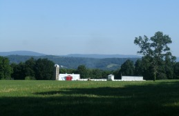 View of farm and Pa. in the distance