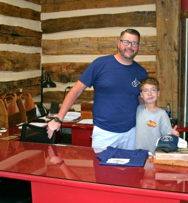 Christopher with Matt at barnwood Living retail store