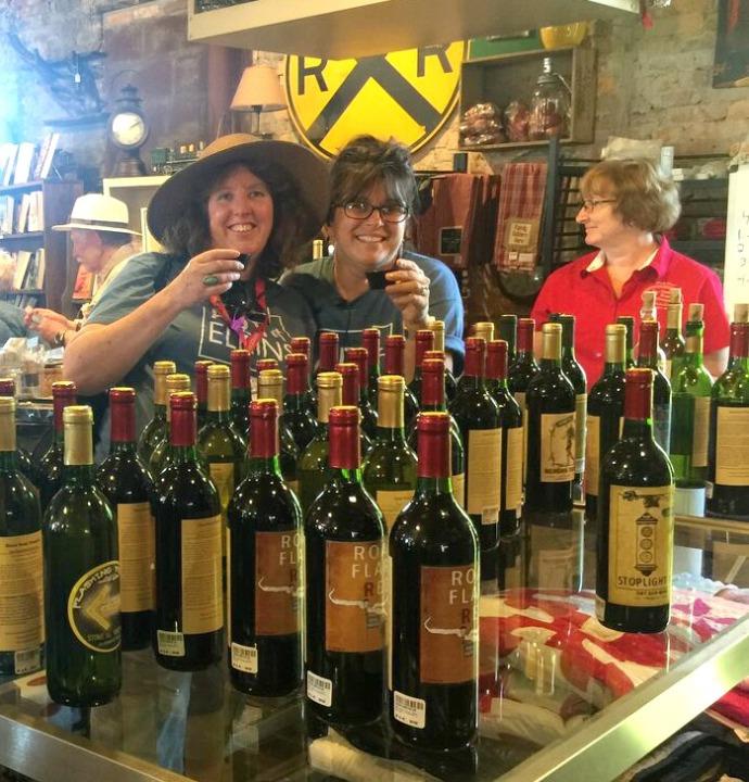Art of Elkins Wine Tasting Tammy Dolly and Jolynn Powers