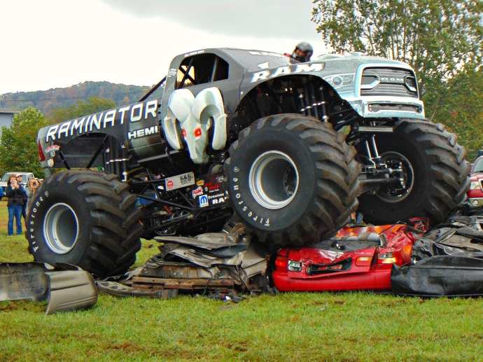 Driver of the Raminator at the Mountain State Forest Festival