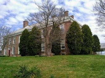 Front view from road at Adaland Mansion
