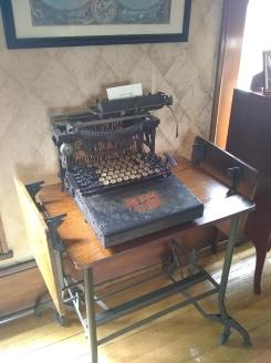Judge Robison's typewriter Adaland Mansion