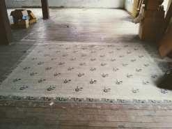 Vintage linoleum rug 13X11