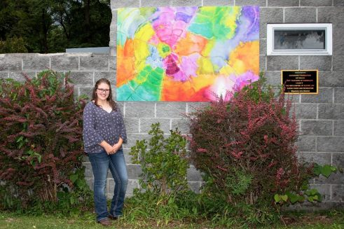 Emily Marple with her Water Color Web