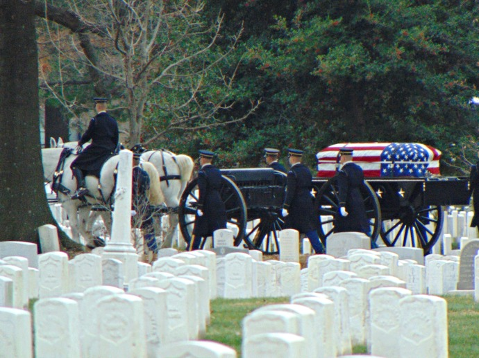 Funeral pression at Arlington National Cemetery 2016