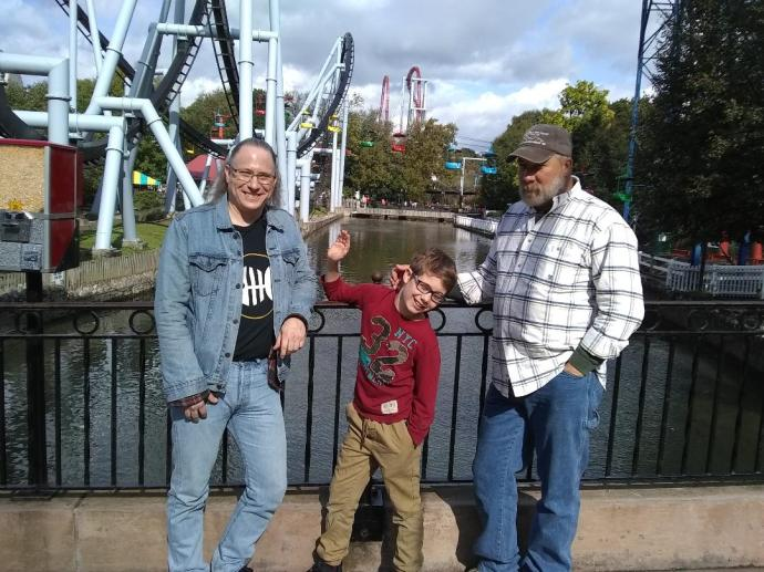 Alex Christopher and tom at Hershey park