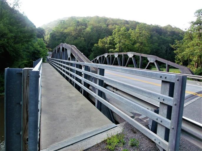 Allegheny trail head bridge Harmon WV
